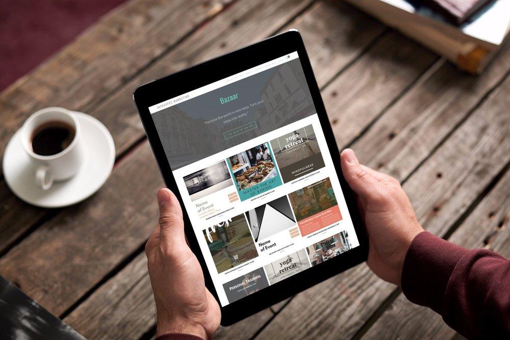 business website course using squarespace for a wellness business