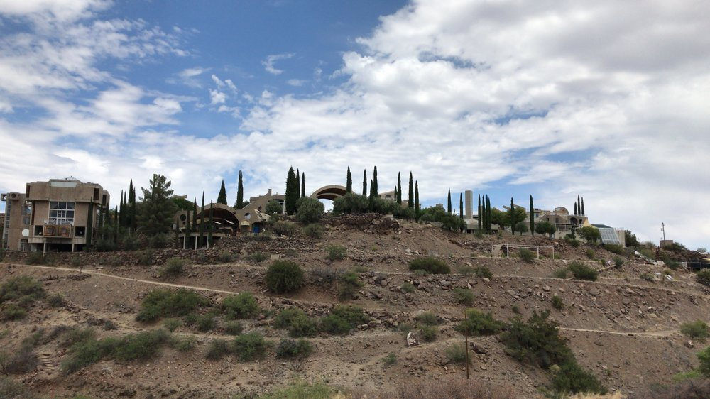 Arcosanti as seen from the end of the Visitor Hiking Trail.