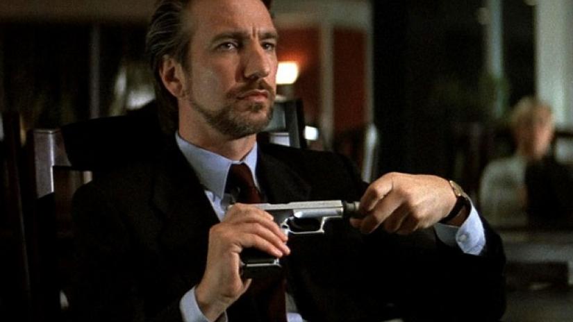 Alan Rickman as Hans Gruber.