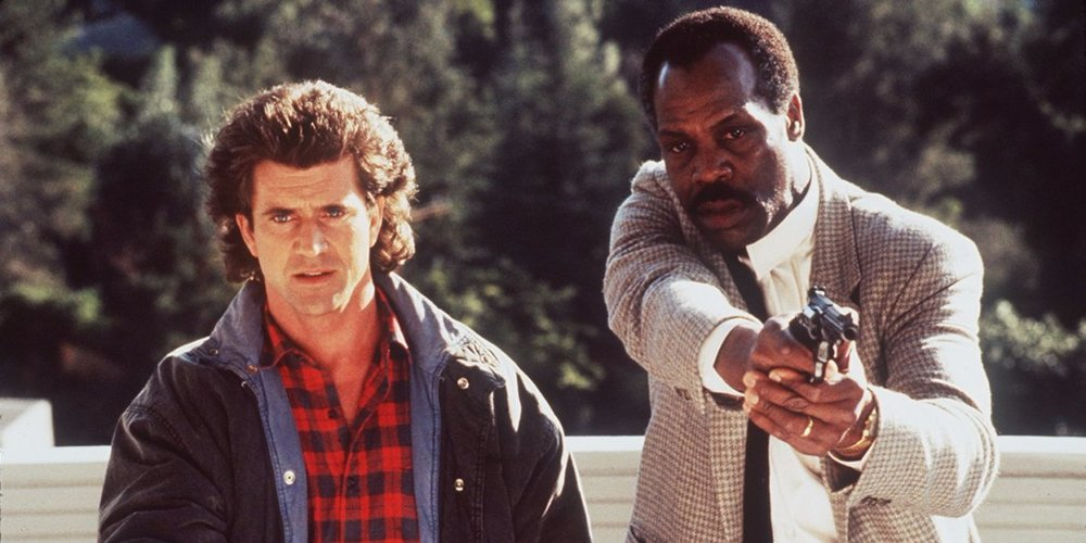 Mel Gibson as Martin Riggs (Left) and Danny Glover as Roger Murtaugh (Right).