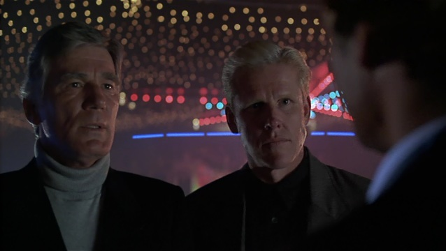 Mitchell Ryan as General Peter McAllister (Left) and Gary Busey as Mr. Joshua (Right).