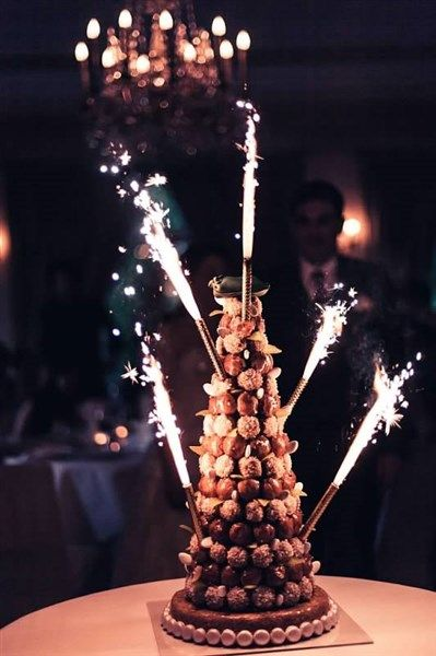 Croquembouche with Sparklers