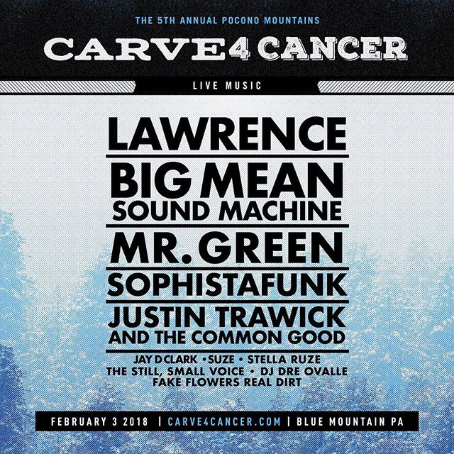 Starting to get amped for next week's @carve_4_cancer at @skibluemountain! We hit the Alpine Stage at 2:30!  Oh, we almost forgot....we'll also be playing our @moetheband set to once again honor our friend and Carve 4 Cancer founder, Brent P. Evans (@murderhewrote)! See you on the slopes! . . . . . . #livelikebrent #suzerocks #livemusic #funk #funky #blues #bluesy #groove #groovy #songs #coversongs #tributesongs #tribute #moe #bassguitar #drums #guitar #vocals #vocalist #surrendertothegroove #ski #bluemountain #snow #winter #winterjams