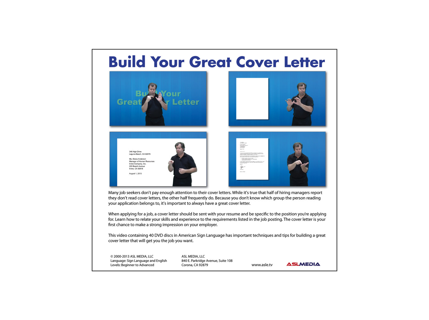 Job success build your great cover letter 40 dvd discs first job success build your great cover letter 40 dvd discs first version madrichimfo Gallery