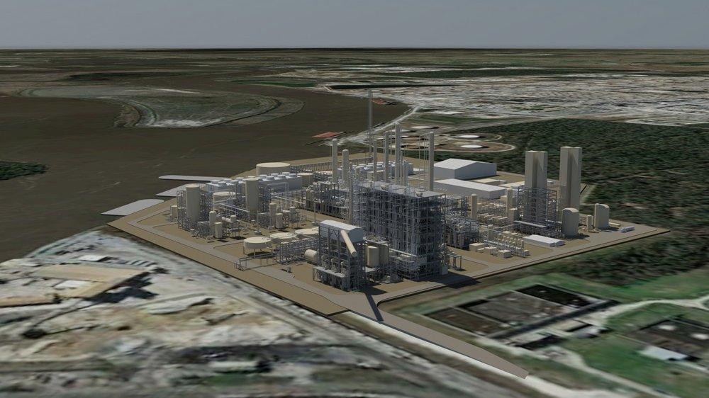 Artist's rendering of future Lake Charles Methanol facility. (Lake Charles Methanol, LLC.)