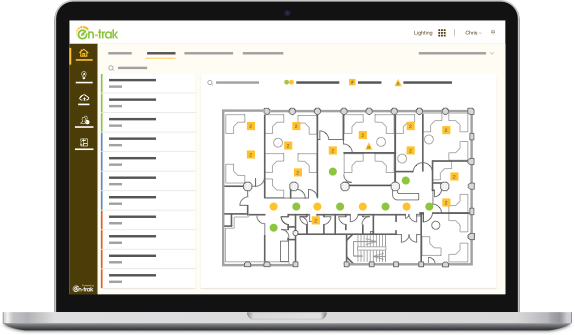 En-trak Smart Lighting enables you to re-zone lighting with a click