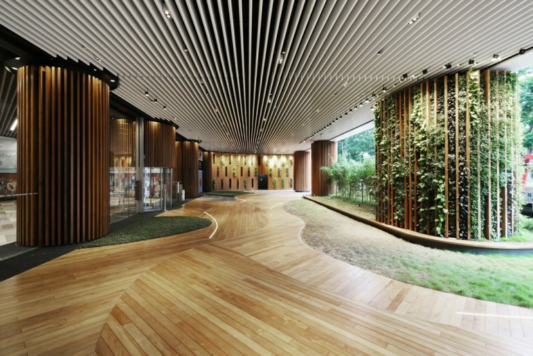 Hong Kong Green Office Lobby