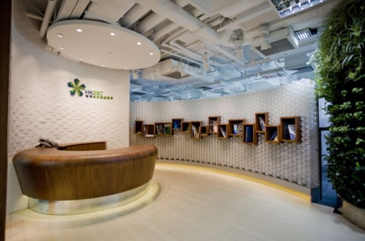 HKGBC green office lobby