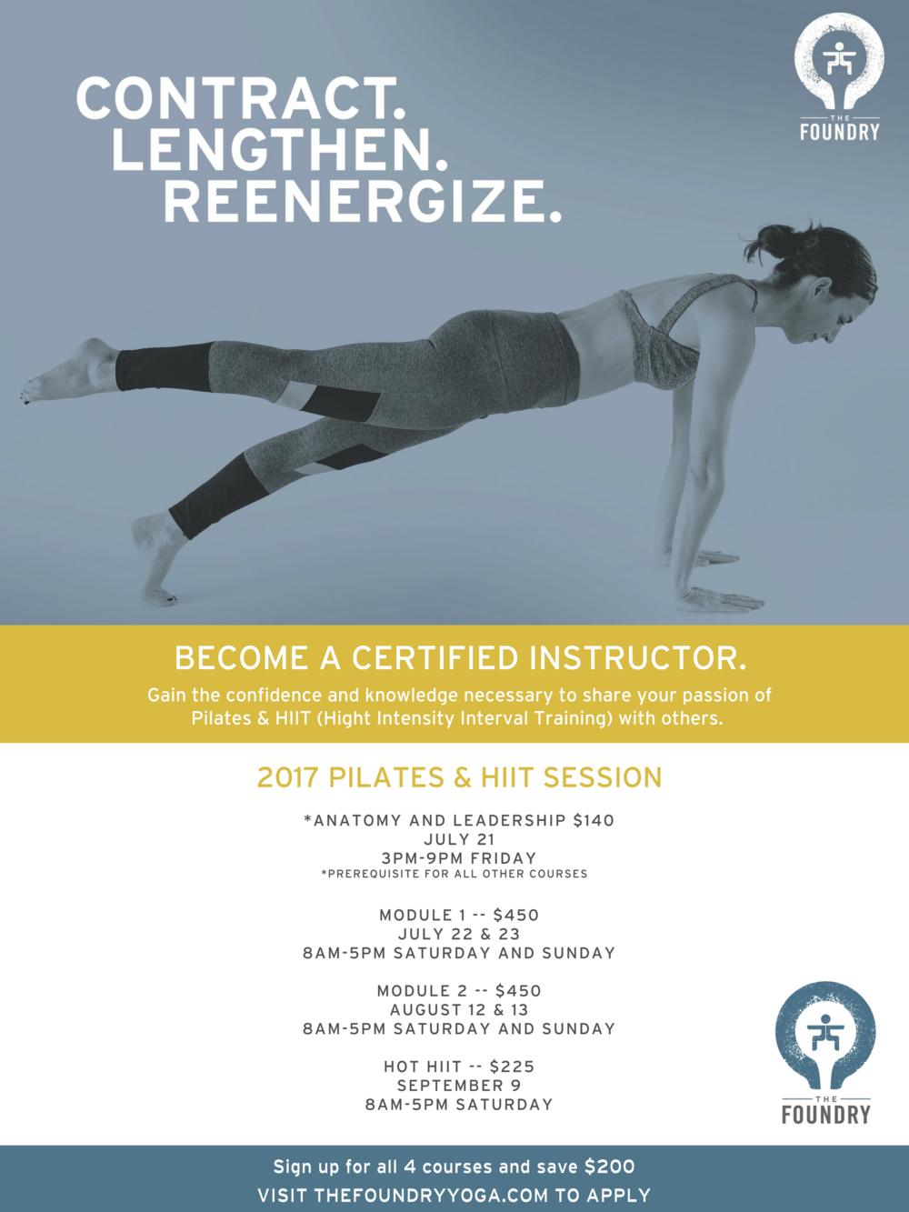 Hot Pilates Teacher Training — The Foundry