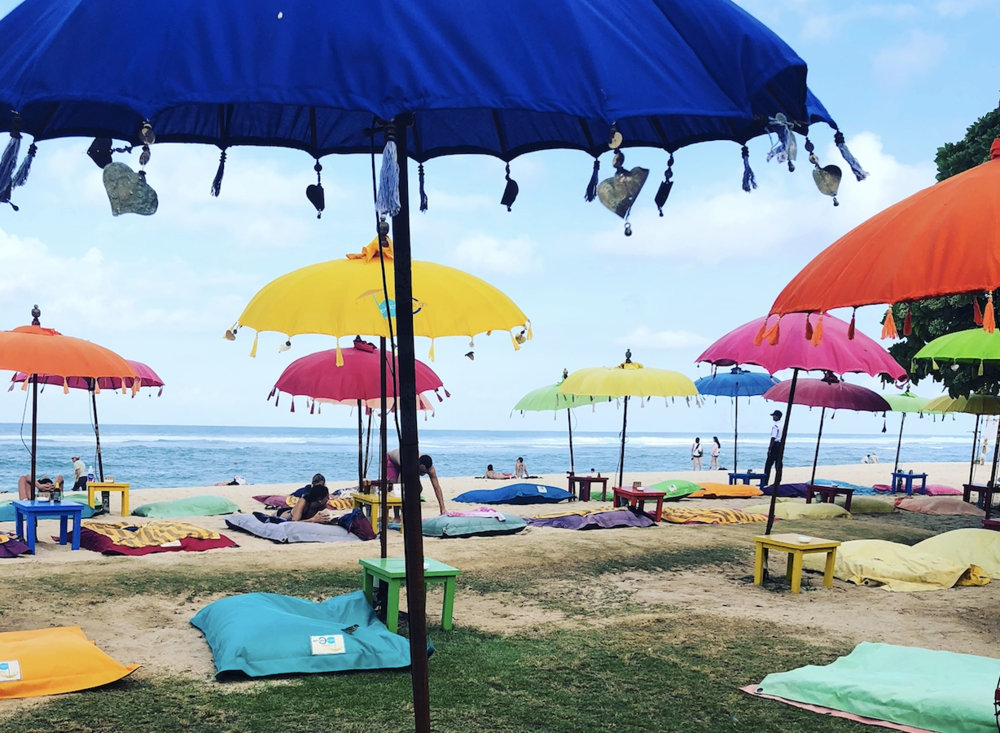 Enjoy the beautiful and colorful beach at The Ayodya Resort.The perfect way to end your time in Bali -- ultimate relaxation! -