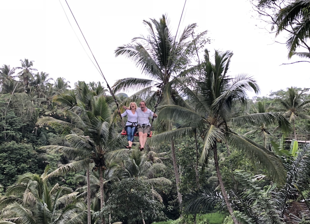 The Bali Swing!!! So fun to experience this with your partner. Everyone will be laughing by the end of the day! -