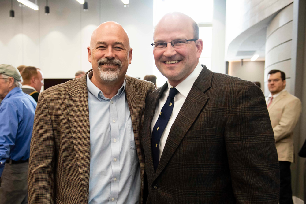 Above:    Will Lynch   , PhD (left), Chair, Department of Chemistry and Biochemistry, Georgia Southern University, and Chris Hagen (right), Past President, Monsignor Daniel J. Bourke Division (#1 Savannah), Ancient Order of Hibernians in America, and Past Vice-Chair, Savannah Irish Festival.