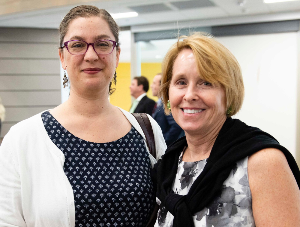 Above:    Sarah McCarroll   , PhD, Associate Professor of Theater and member of the faculty of the Center for Irish Research and Teaching, Georgia Southern University, and    Teresa Winterhalter   , PhD, Associate Dean, College of Arts and Humanities, Georgia Southern University.