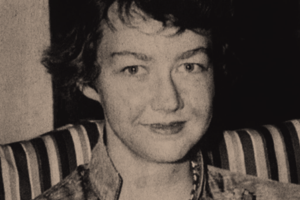 """Above: Mary Flannery O'Connor (1925-1964), a Savannah-born member of the Wexford diaspora and a leading practitioner of the Southern Gothic literary genre. As a devout Catholic in the Protestant-dominated """"Bible Belt,"""" she interrogated religious and moral themes by means of her short stories and novels, as well as her personal letters and journals."""
