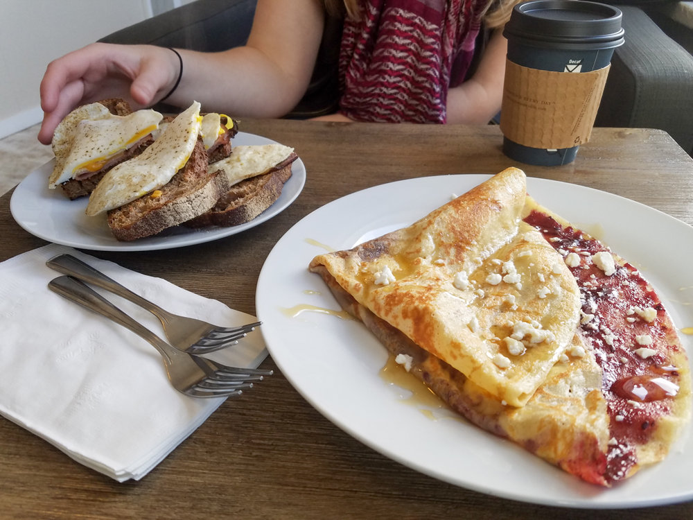 Live Local Cafe. Crepes and Loaded Toast. Favorite Foods in Oregon. Splendid Wonders Blog