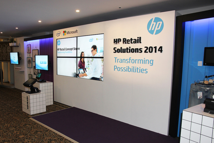 Exhibition Stand Hire Newcastle : Displays — hewlett packard retail