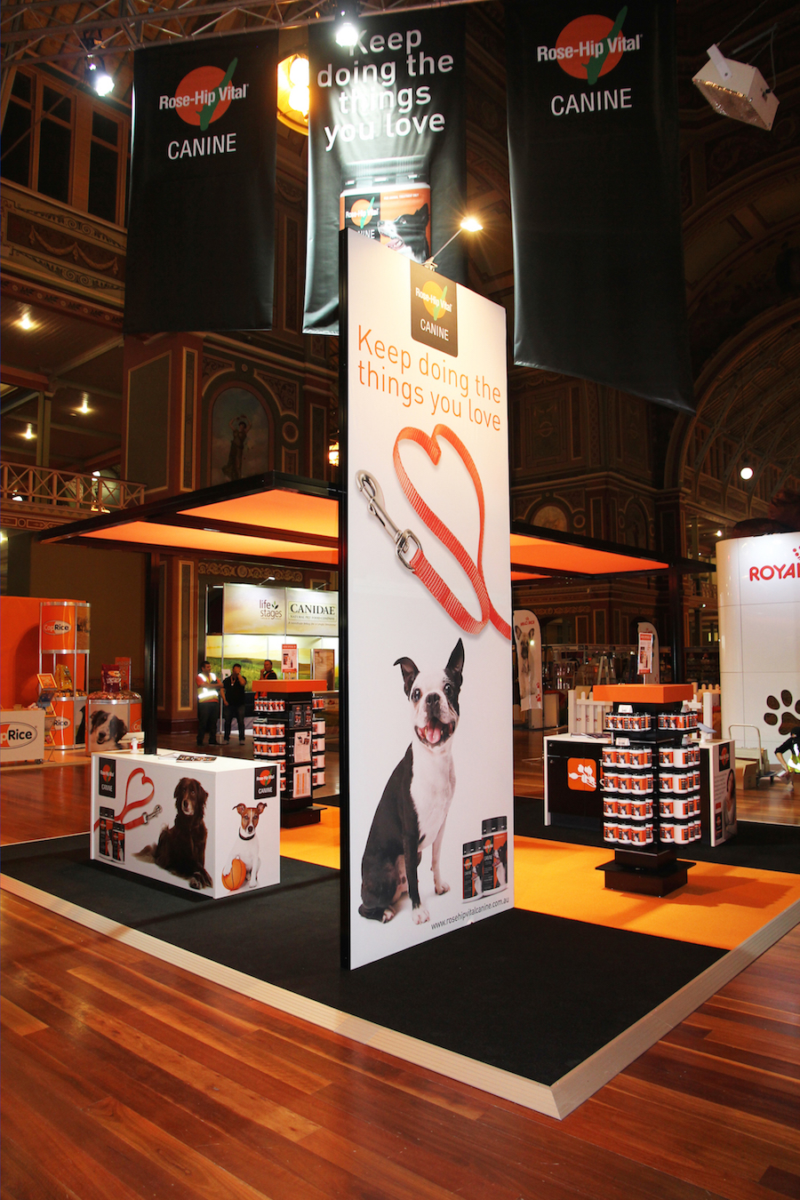 Exhibition Booth Hire Gold Coast : Displays — rosehip vital canine