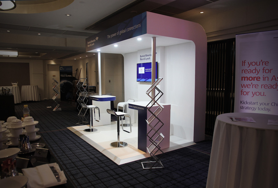Exhibition Stand Hire Newcastle : Displays — bank of america display