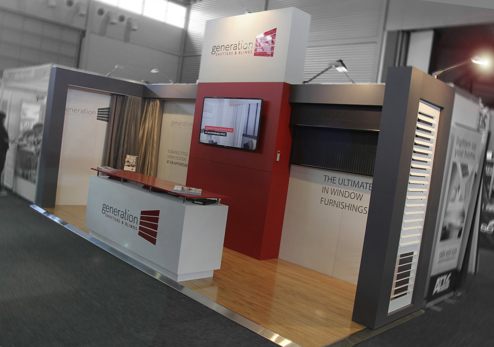 Exhibition Stand Hire Newcastle : Displays — process trade show portable stand booth