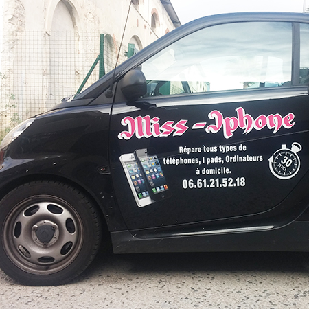 MISS IPHONE  / Marquage véhicule