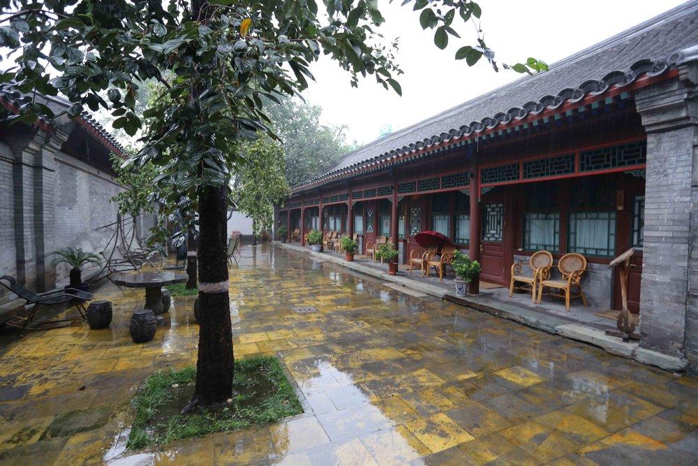 هكذا كان أول صباح لي في بكين، صورة من داخل مفر سكني