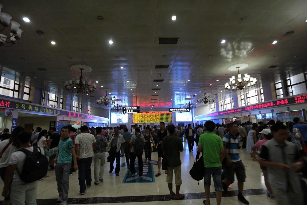 محطة القطارات الرئيسية كما تبدو وسط أيام الأسبوع
