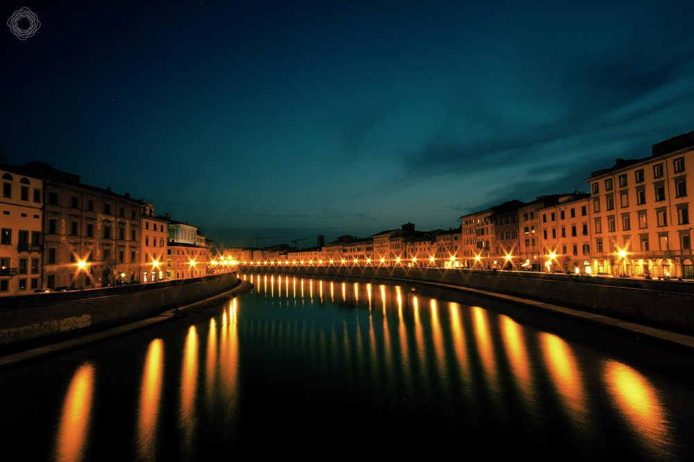 نهر أرنو، بيزا، إيطاليا