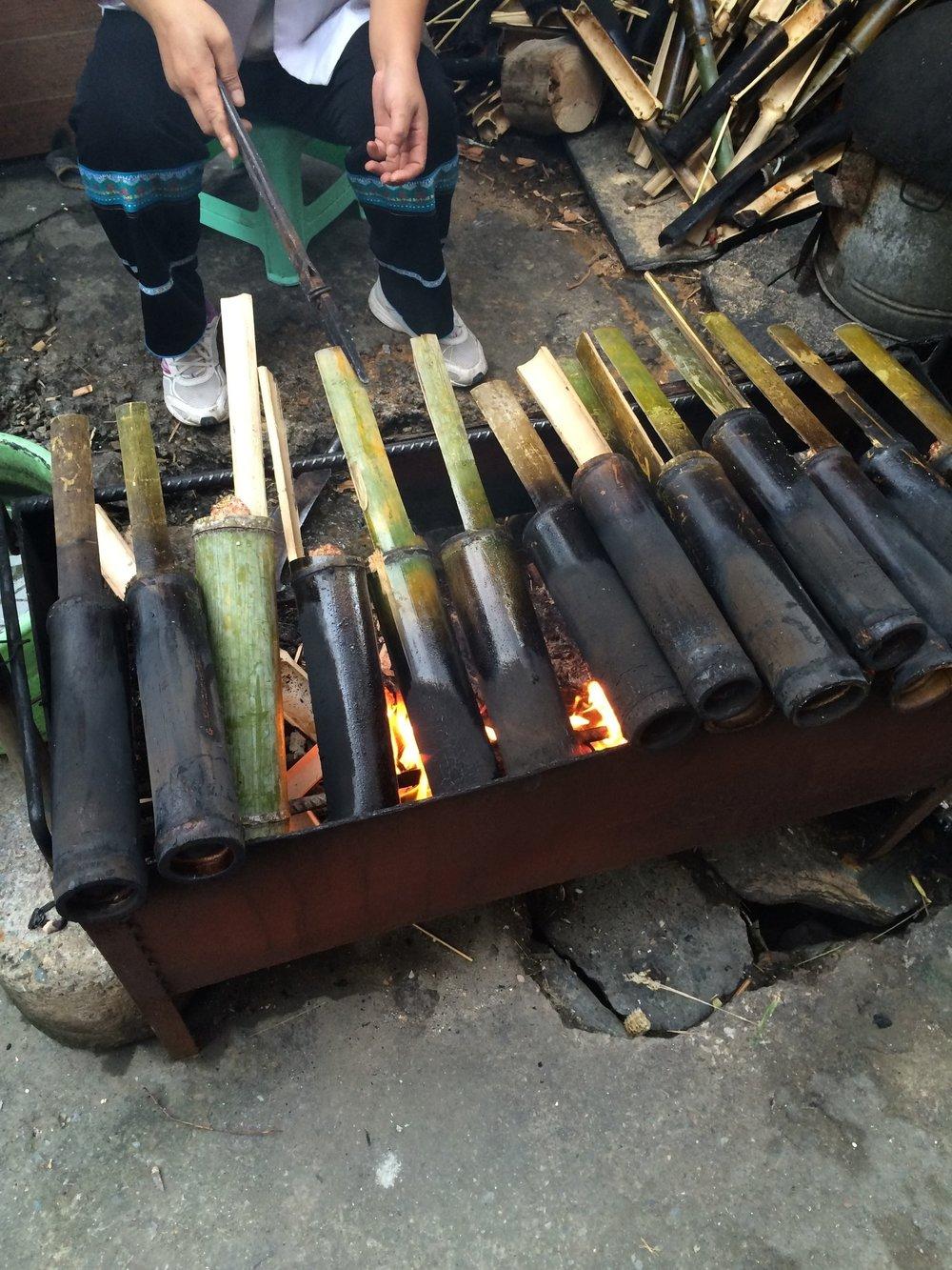 هكذا يتم طبخ أرز البامبو