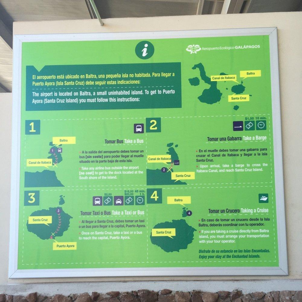 طرق التنقل بين المطار وبقية الجزر