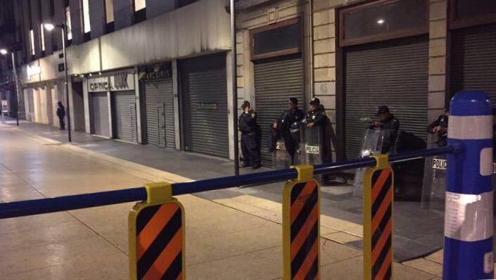 قوات مكافحة الشغب في مكسيكو سيتي