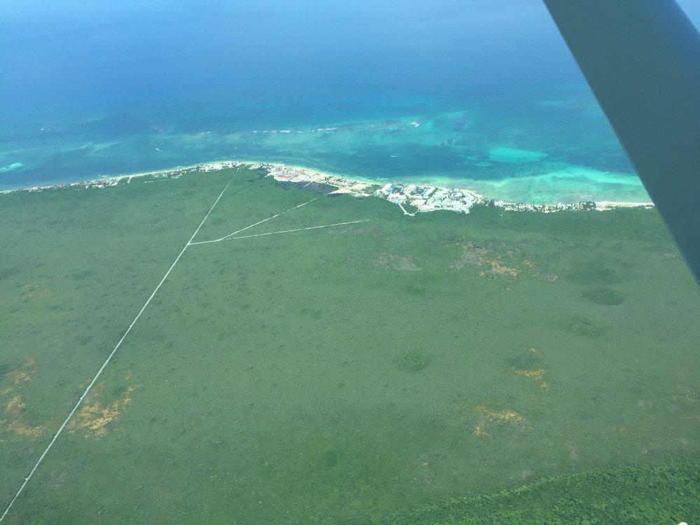 منظر جوي من فوق المكسيك