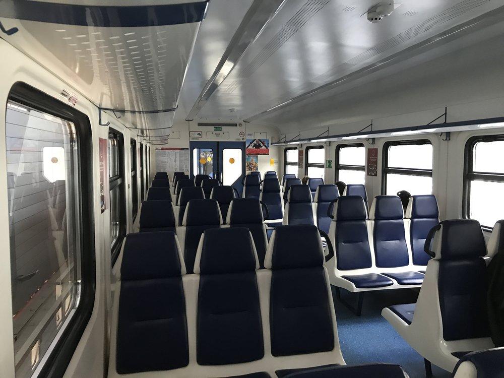 القطار من الداخل