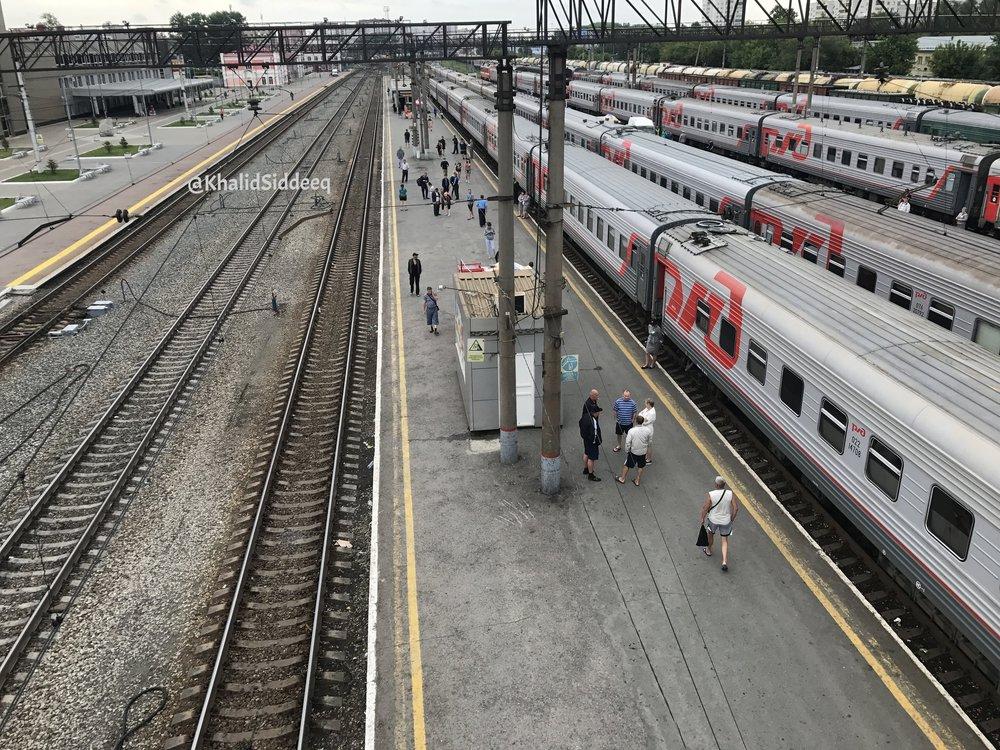 محطة القطار في تيومين