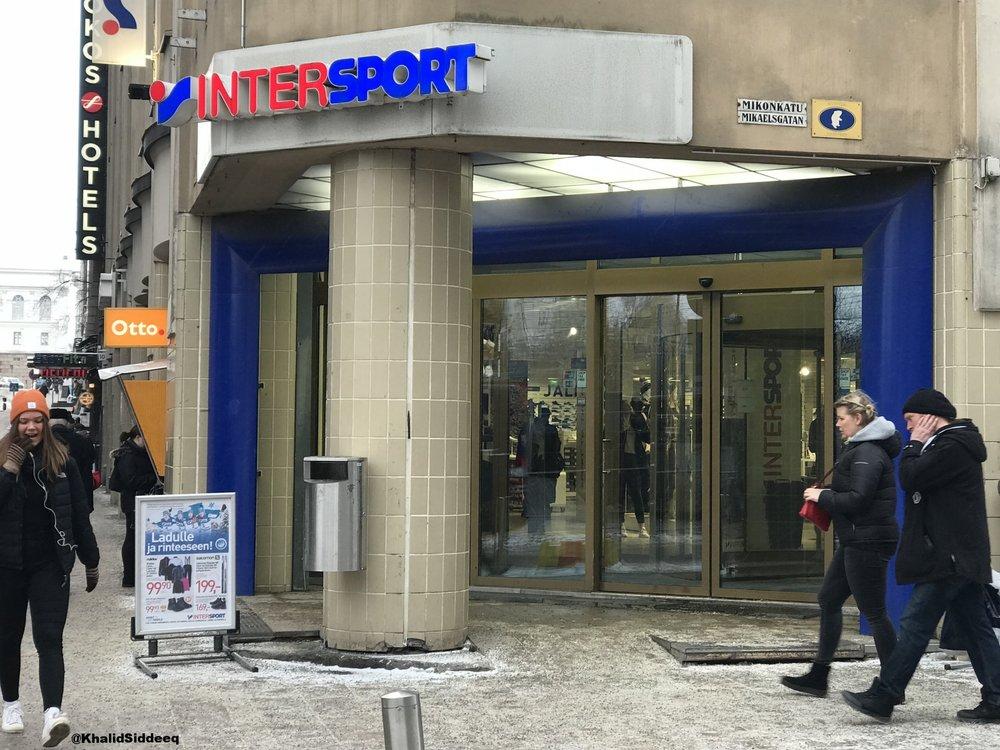 أحد محلات الرياضة الشهيرة في فنلندا