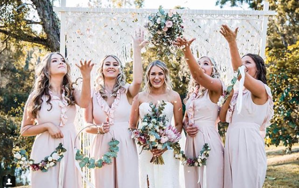 Riverwood Weddings - riverwoodweddingsstunning Bride Alex with her gorgeous #bridesquad#riverwoodbridesmaids wearing pink jumpsuits with flower hoop bouquets 👌 Clifford + Alex || 18.08.18 || wonderfully captured by 📷 @atomicbutterfly_photography with 🎥 @anthony_jackson_media || fantastic #riverwoodwedtribe suppliers @hummingbirdandcocatering@akuliandcomacrame@memorablemomentshire@nomadictentsoz @flowers.at.the.door@jacqui_buzetti_mua @mymasterstylist@alleventpartydjs@timestandsstillceremonies