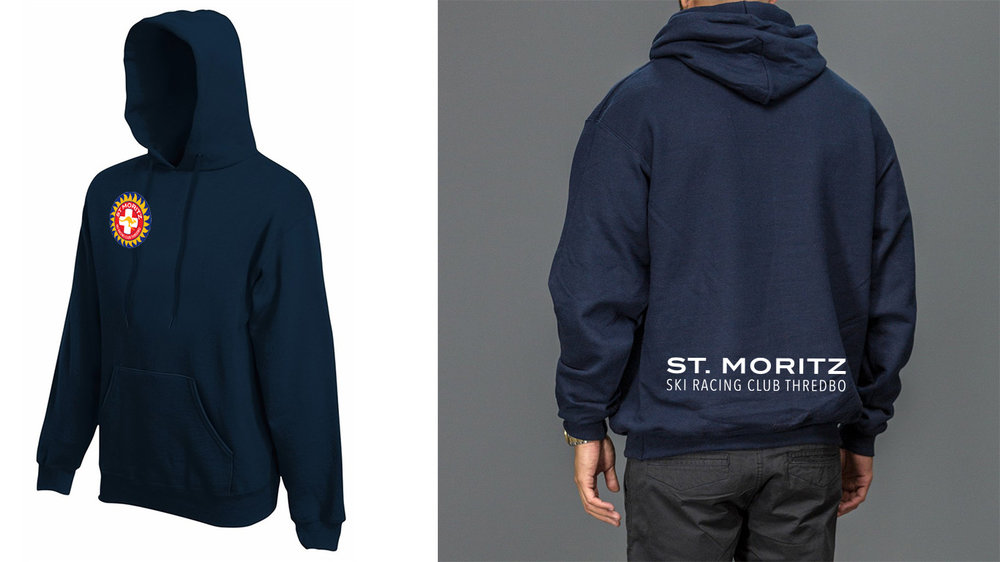 Hoodie is Navy, pull over, midweight fleece