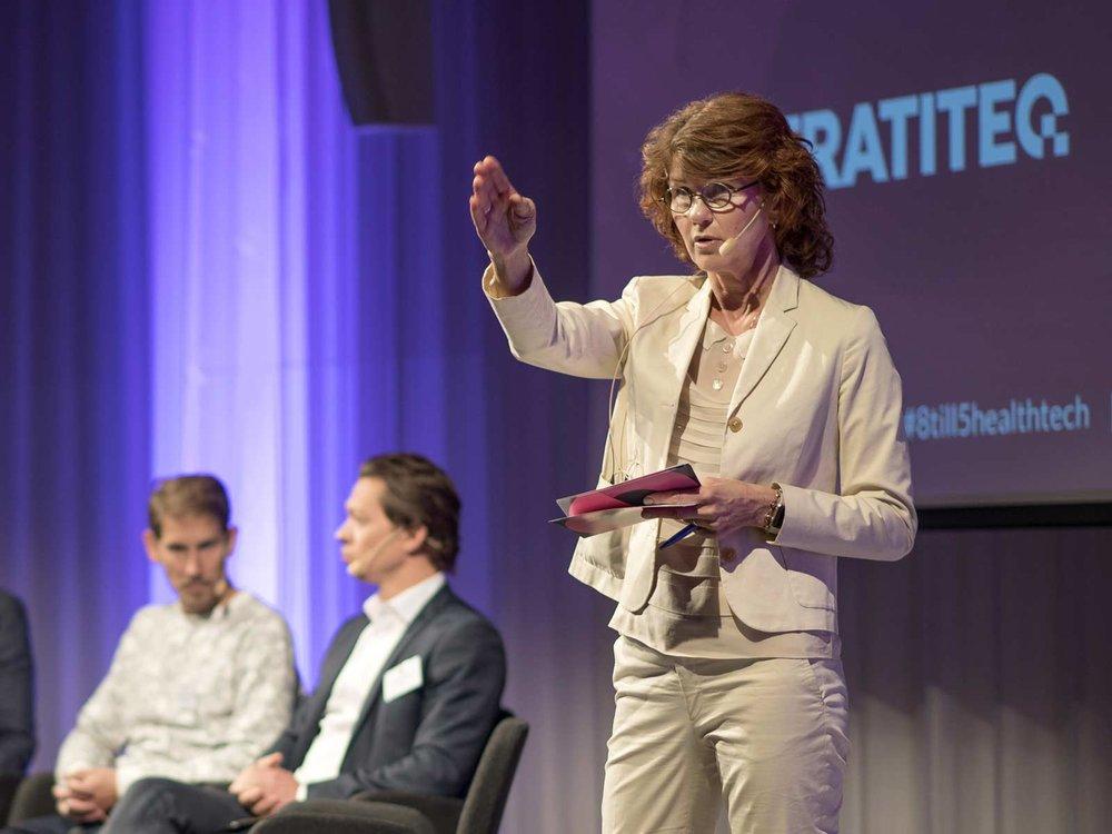 Heidi Avellan, konferensens moderator. Politisk chefredaktör, HD-Sydsvenskan.