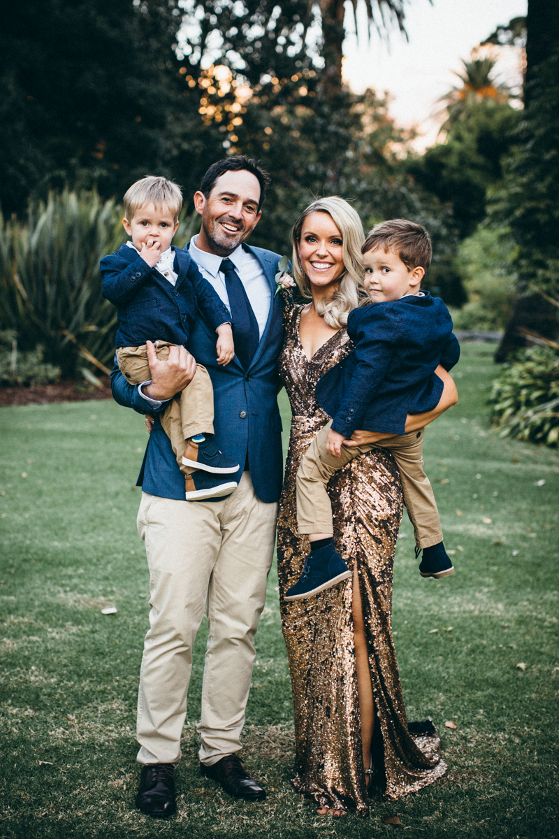 Having children at your wedding is sometimes a necessity ... particularly if they are yours!  - However there does come a point in the festivities where the night is no longer targeted to engage the little humans. Ask us about our child minding services.     Pic of Katie and Paul with their gorgeous boys at their wedding in Albury. Photograph from talented Bec from The Bower Co Weddings.