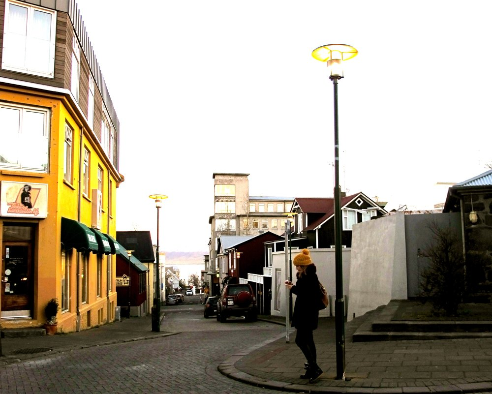 There I am, exploring the streets of Downtown Reykjavik