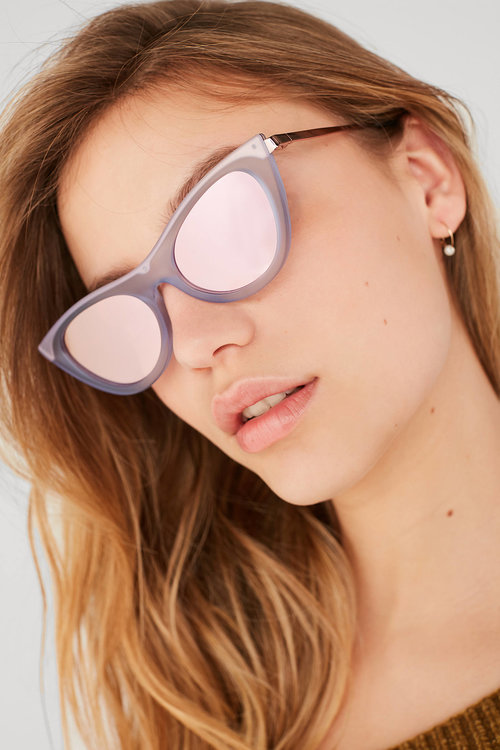 f7b0b43bc5b4 Le Specs Enchantress Sunglasses - Blue Quartz