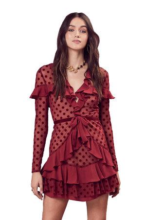 ad319eb908df8 Dotty Mini Dress - Berry Dot For Love & Lemons ...