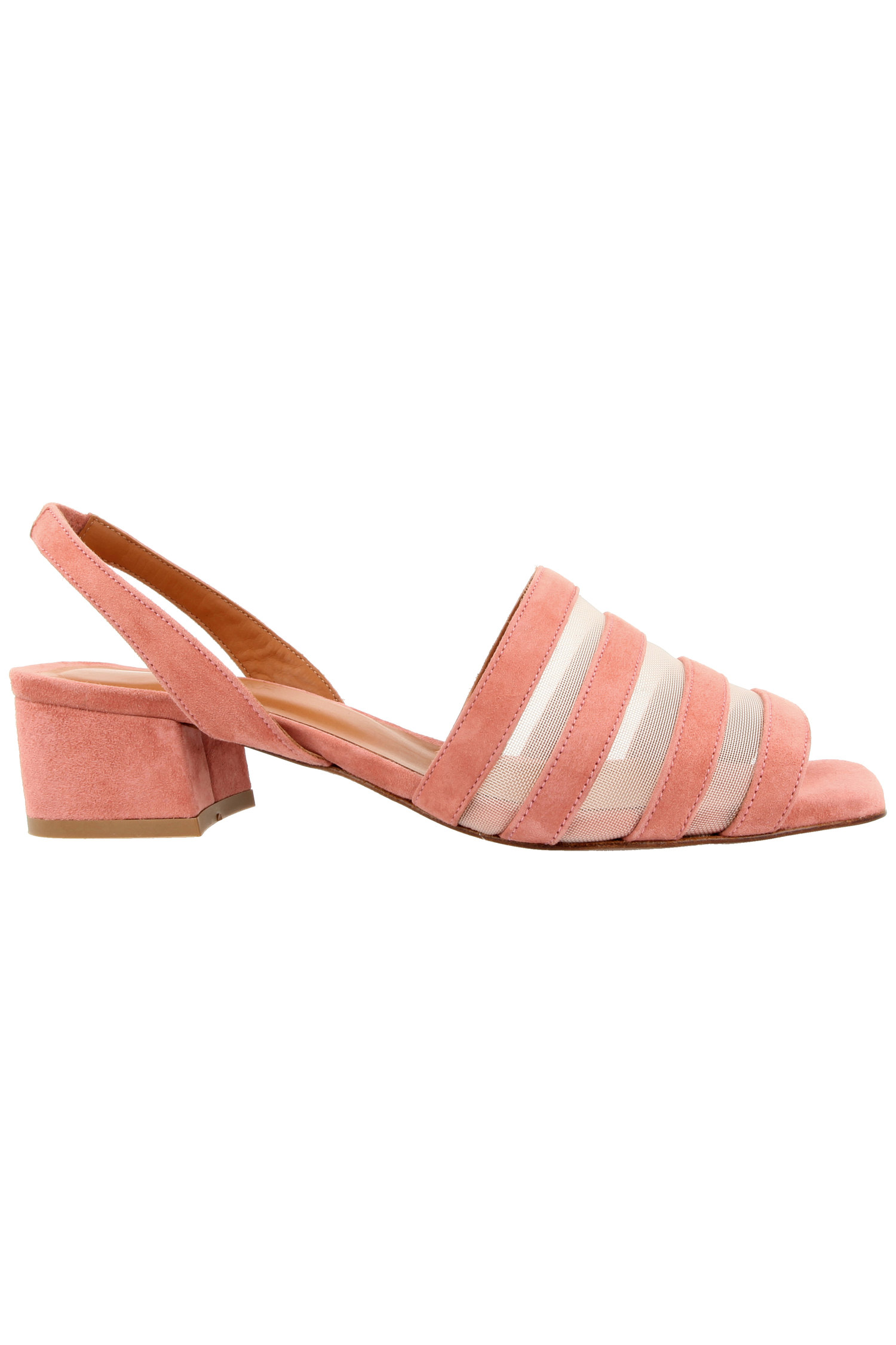 f96323ab77 Colleen Pink Suede Slingback Shoes With Mesh Panel — IMWIM