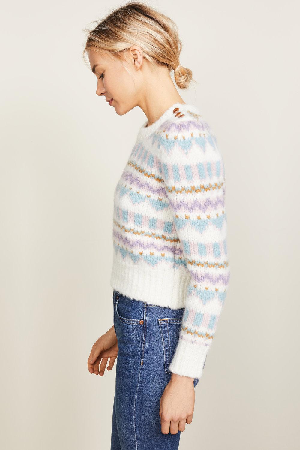 2a0f157cc best ce20f e8d4b ivory baby alpaca cropped sweater ...