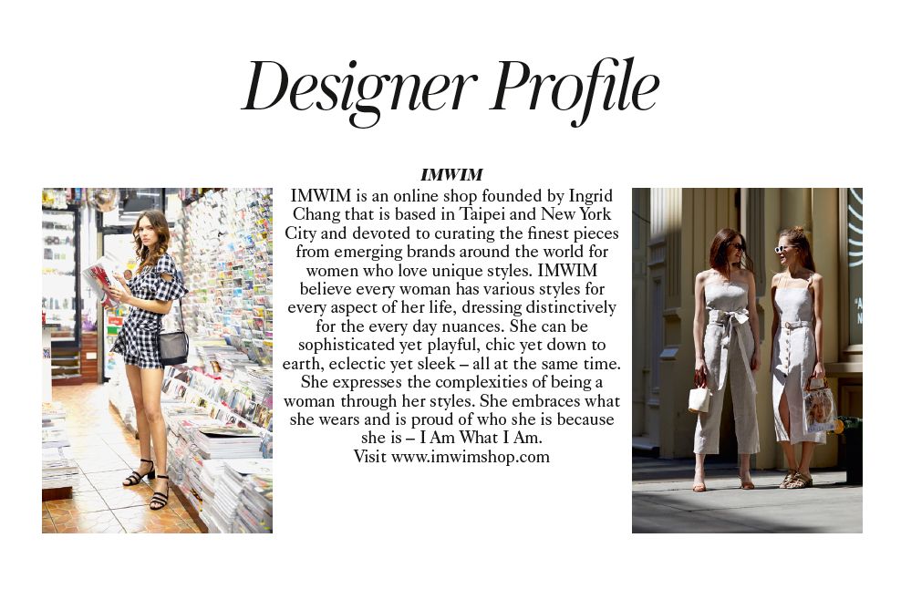 IMWIM British Vogue Oct Issue Designer Profile