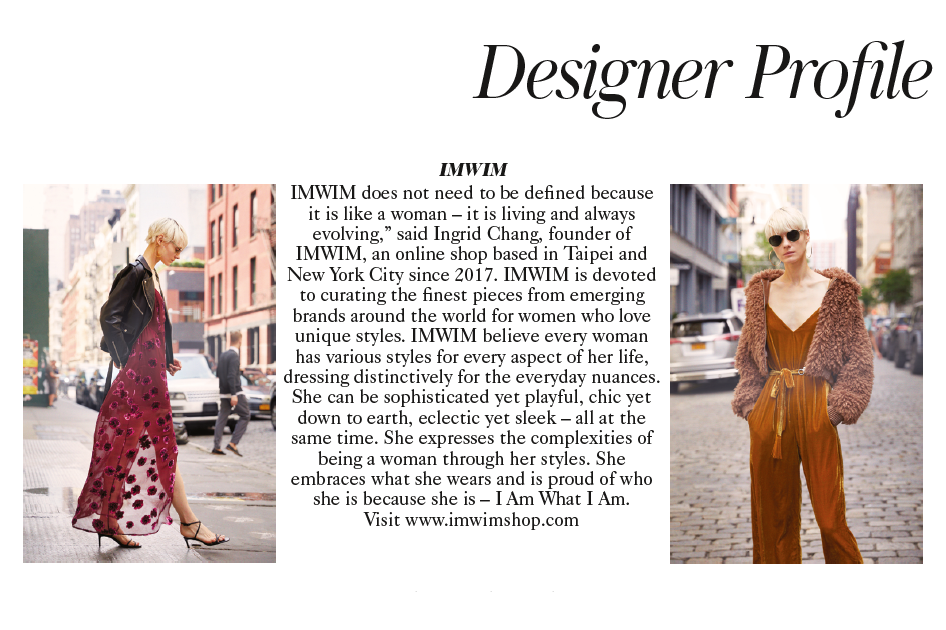 IMWIM British Vogue Nov Issue Designer Profile
