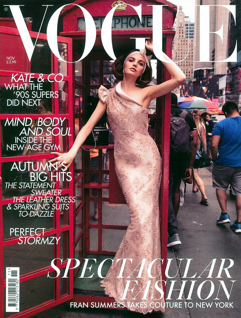IMWIM British Vogue Nov Issue Designer Profile Cover