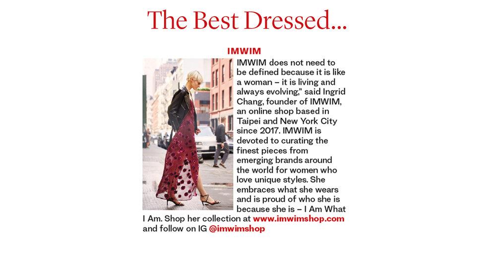 IMWIM British Vanity Fair Dec Issue The Best Dressed