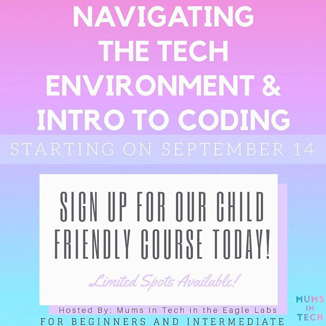 Ladies & gentlemen! It's that time of year! Our core coding course that runs once a week over the course of seven weeks! Have you ever been interested in the technical world and thought it wasn't for you? Then take a look at the link in our bio! Take your skill set to the next level with this course and flourish within the business world while your kids are looked after (if applicable) !
