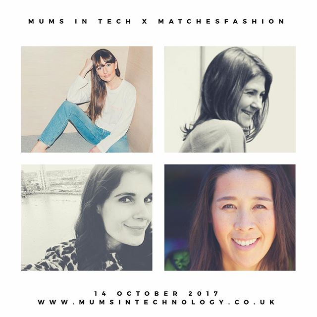 Got your ticket yet? On Saturday 14th of October Mums in Tech's Fashion Recoded event will be held at @matchesfashion HQ! Join Michelle Kennedy, Dolly Jones, Lisa Williams and Sara Feldman for a morning that's all about you and your career! Details on our website ⚡️⚡️⚡️ #booknow #fashion #tech #careers