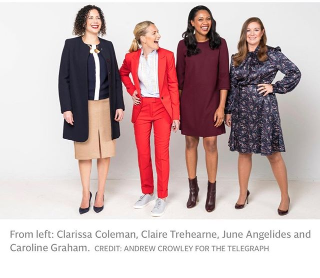 Our founder @juneangelides was dressed by the incredible @isabelspearman and featured in @telegraphfashion along with 3 very inspiring women 👏👏👏 #confidence #powerdressing #workwear #style #telegraph